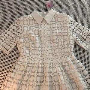 White lace Chicwish dress